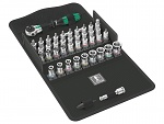 "WERA - 8100 SA - All-in Zyklop Speed Ratchet Set, 1/4"" drive, with holding function, metric, WL44879"