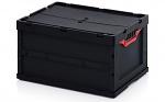 ESD FBD 64/32 - ESD-Faltbox mit Deckel, 600 x 400 x 320 mm (de), WL44742