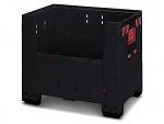 ESD KLK 1208 - ESD-BigBox, klappbar mit 4 Eingriffsklappen - 120 x 80 x 100 cm, WL37145