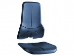 BIMOS - 9588-2001 - upholstery for work chair, fabric PU-foam blue, WL40173