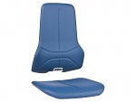 BIMOS - 9588-MG02 - upholstery for work chair, fabric artificial leather blue, WL40170