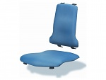 BIMOS - 9876-6902 - upholstery for work chair, artificial leather Skai blue, lumbar support, WL40199