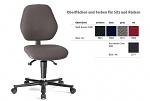 BIMOS - 9151E-9801 - ESD work chair BASIC 2, black upholstery, WL29079