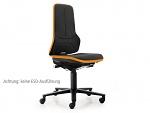 BIMOS - 9573-9588-3279 - Work chair NEON 2, flexband orange, synchronous mechanism, WL36797