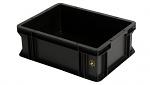 WEZ - 4313.907. - ESD-Behälter, schwarz, 400 x 300 x 145 , WL34816