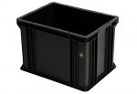 WEZ - 4326.007. - ESD-Behälter, schwarz, 400 x 300 x 278 , WL34821