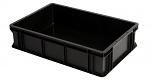 WEZ - 6413.007. - ESD-Behälter, schwarz, 600 x 400 x 145 , WL34820