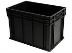 WEZ - 6440.007. - ESD-Behälter, schwarz, 600 x 400 x 412 , WL34819