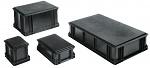 WEZ - 4308.907. - ESD-Behälter, schwarz, 400 x 300 x 101 mm, WL34810