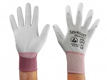SAFEGUARD - SG-grey-JCA-302-XS - ESD gloves mixed fabric, XS, WL39620