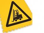 ECOTILE - ecotile flooring - Floor marking tile LOGO danger forklift truck, WL41965