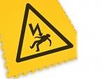 ECOTILE - ecotile flooring - Floor marking tile LOGO electrical danger, WL41966