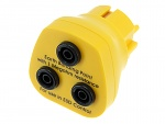 SAFEGUARD - Safeguard ESD - Earthing plug, 3 x 4 mm banana plug socket, WL42571