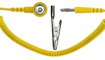 SAFEGUARD - SAFEGUARD ESD - ESD-Spiralkabel, 1 MOhm, 2,4 m, 10 mm DK/Bananenstecker, WL42103