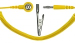 SAFEGUARD - SAFEGUARD ESD - ESD-Spiralkabel, 1 MOhm, 2,4 m, 3 mm DK/Bananenstecker, WL42070