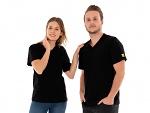 SAFEGUARD - SafeGuard PRO - ESD T-Shirt V-Ausschnitt mit Brusttasche, schwarz, XS (de), WL44659