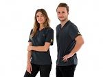 SAFEGUARD - SafeGuard PRO - ESD T-Shirt V-Ausschnitt mit Brusttasche, grau, XS (de), WL44668