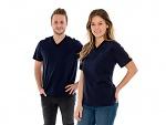 SAFEGUARD - SafeGuard PRO - ESD T-Shirt V-Ausschnitt mit Brusttasche, blau, XS (de), WL44559