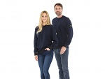 SAFEGUARD - SafeGuard ESD - ESD sweatshirt, round neck marine blue XS, WL43763