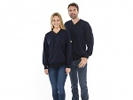SAFEGUARD - SafeGuard ESD - ESD sweatshirt, V-neck marine blue XS, WL43781