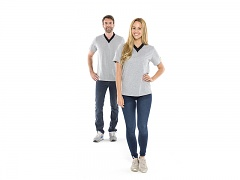 SAFEGUARD - SafeGuard ESD - ESD T-Shirt V-neck, grey, L, WL35275