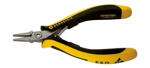 BERNSTEIN - 3-992-15 - TECHNICline ESD flat nose pliers, extremely slimline, WL43214