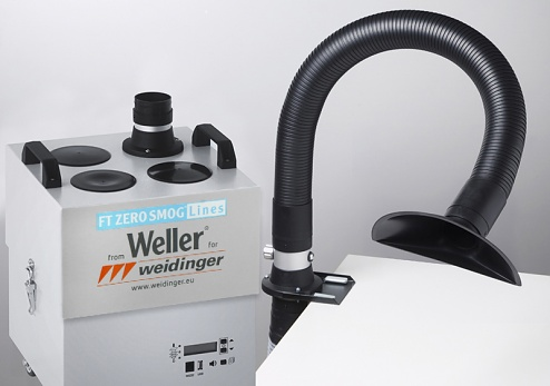 WELLER - ZERO-SMOG-4V Kit 1 funnel - Fume extraction unit for 1-4 workstations, WL30713