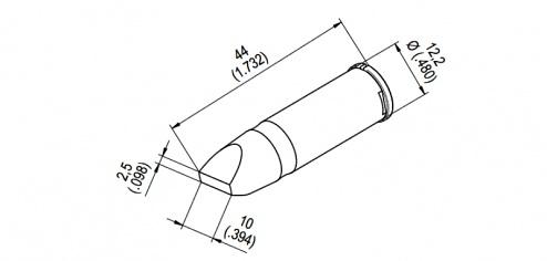 ERSA - 0242CDLF100 - Soldering tip for i-CON, WL44514