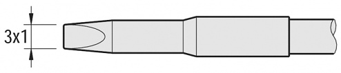 JBC - C245-061 - Lötspitze für T245, meißelförmig, gerade, WL22061