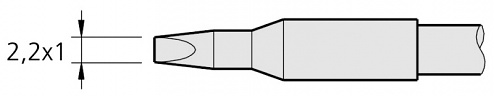 JBC - C250-408 - Soldering tip for AL250-A, WL22392