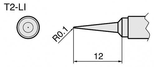HAKKO - T2-LI - Soldering tip for 912, WL21749