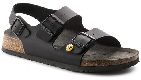 BIRKENSTOCK - MILANO - ESD sandals MILANO, black, size 37, WL41469