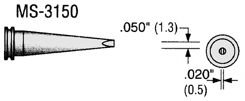 PLATO - MS-3150 - Soldering tip for 80 W soldering iron, WL18094