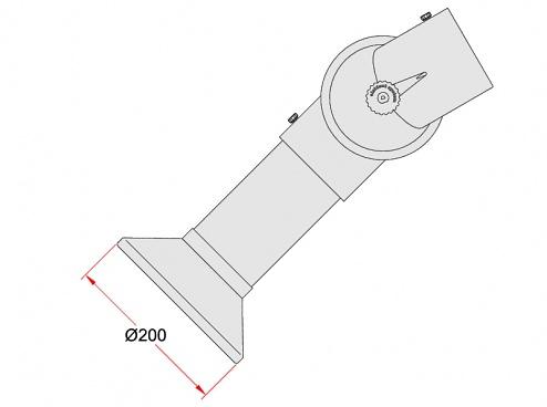 ALSIDENT - 1-10024-7-5 - Rundhaube DN100/PP Weiß, WL32951