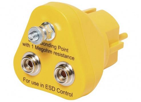 SAFEGUARD - 2201.245 - Earthing plug, 2 x 10 mm press stud, WL32123