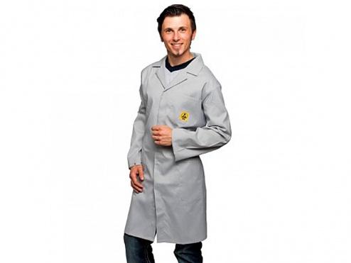 WARMBIER - 2640.AM160.M - ESD lab coat, grey M, WL33215