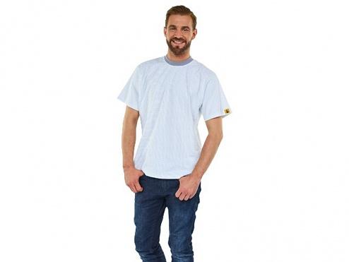 WARMBIER - 2653.T.M - ESD-T-Shirt rundhals, weiß, M, WL43854