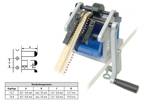 SCHLEUNIGER - VARIOCUT - Cutting device, 0.8 / radial, pitch 12.7 mm, WL15304