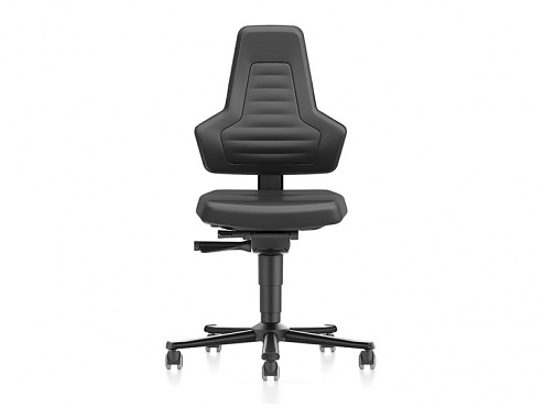 BIMOS - 9033E-MG01-3001 - NEXXIT 2 ESD work chair with castors, black faux leather, no handles, WL43924