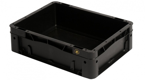 WEZ - 4312.060. - ESD-Behälter 400x300x120 mm, WL35709