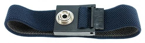 SAFEGUARD - SAFEGUARD ESD - ESD wristband, 10 mm press stud, 220 mm / dark blue, WL42059