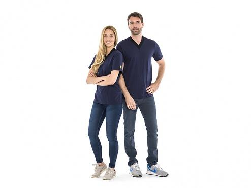 SAFEGUARD - SafeGuard ESD - ESD-T-Shirt, V-Ausschnitt, blau, XXL, WL44414