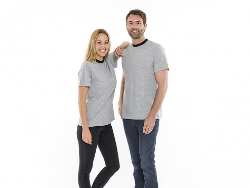 SAFEGUARD - 2655.T.XXXXL - ESD T-shirt round neck, grey 4XL, WL31962