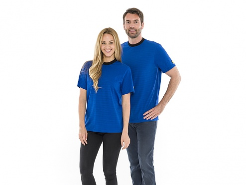 SAFEGUARD - 2657.T.XL - ESD T-shirt, round neck royal blue, XL, WL30474