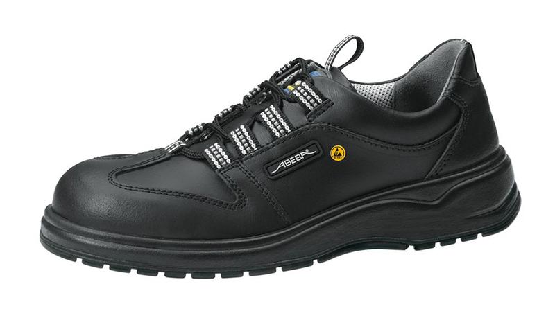 ABEBA 31138 48 ESD Schuh, 48, schwarz, Leder, Halbschuh