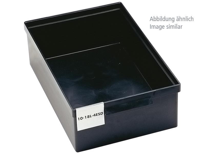 Treston 1949 4esd Esd Storage Box Black Volume 12 Liter